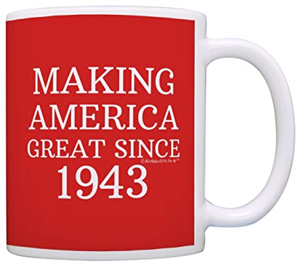 1 Red 75th Birthday Gifts Making America Great Since 1942 Funny Party