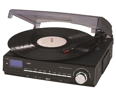 Reflecta LP-USB/SD - Tocadiscos (3,5 mm, MP3, 230V, 50 Hz, Negro ...