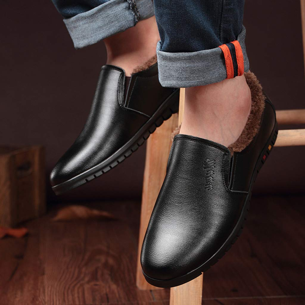 Kstare Mens Oxford Dress Shoes Men Round Toe Genuine Leather Formal Business Casual Shoe