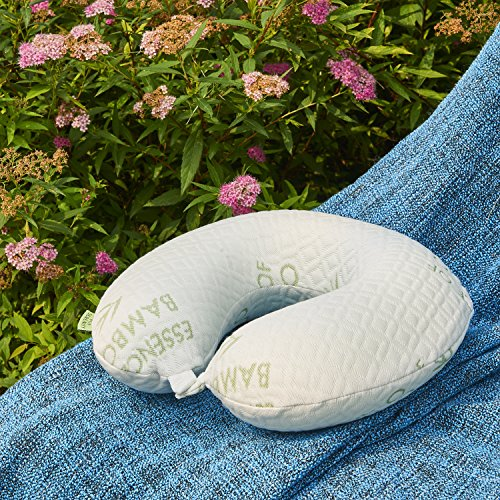 PUR Serenity Bamboo Travel Neck Pillow – Memory Foam, Hypoallergenic, Washable by Bon Voyage (Image #5)