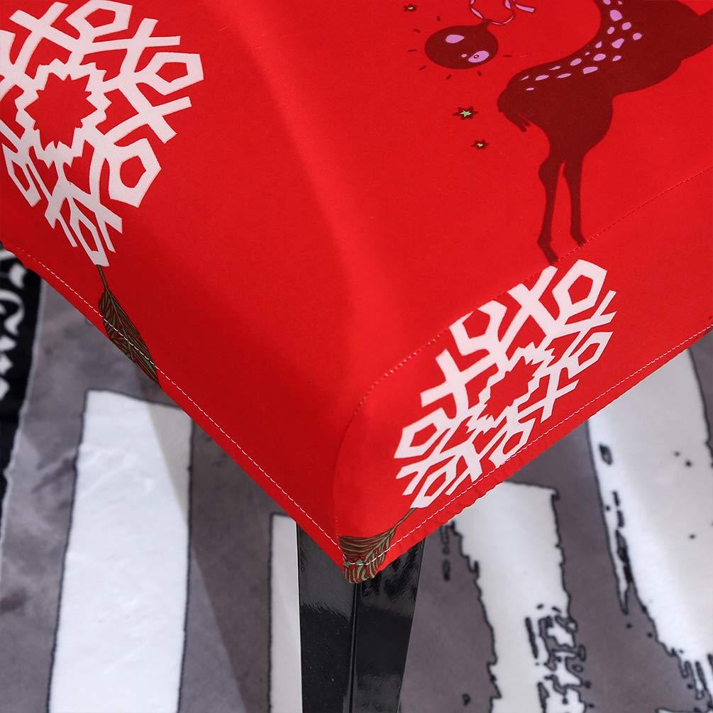 Sitzschutzh/ülle f/ür Esszimmerst/ühle Wei/ßer Elch Sforza Weihnachten Stuhlhussen Hohe Elastizit/ät Pflegeleicht Abnehmbare Stuhlhussen mit Hoher R/ückenlehne f/ür die Zeremonie Hotel Party Decor