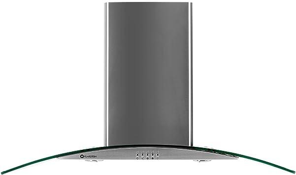 Klarstein GL90WS campana extractora plateado: Amazon.es: Hogar