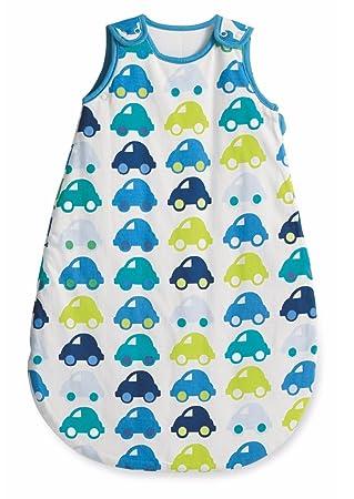 Mothercare Cars bebé niños saco de dormir/Snoozie azul, verde y blanco 2.5 Tog 6 - 18 meses: Amazon.es: Bebé