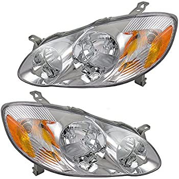 Driver and Passenger Headlights Headlamps Replacement for Toyota 81150-02200 81110-02190