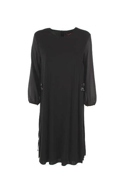 MaxMara 2XL Rango Negro Vestido de Las Mujeres Otoño Invierno 2017/18