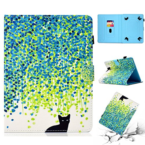 Pattern Bookstyle PU Thin Case Magnetic All Case 8 Case Tablet LMFULM® for Ultra General Inch Tablet For Slot Magnolia Inch Leather Closure Card 10 Stand Purpose Color 8 of Foldable xU66qawW0v