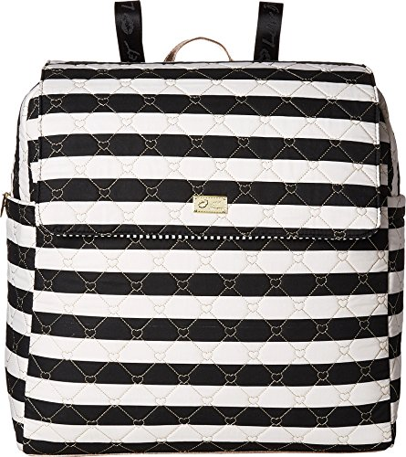 Luv Betsey Women's Willow Oversize Travel Cotton Backpack with Luggage Pass Through Stripe One (Willow Stripe)