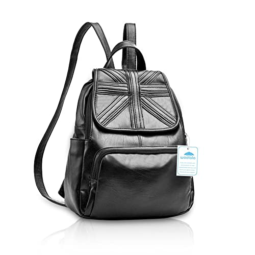c57f7f1dde88 Yoome Flapover Leather Multifunction Backpack Mummy Bag Handbag Shoulder  Backpack British flag  Amazon.co.uk  Shoes   Bags
