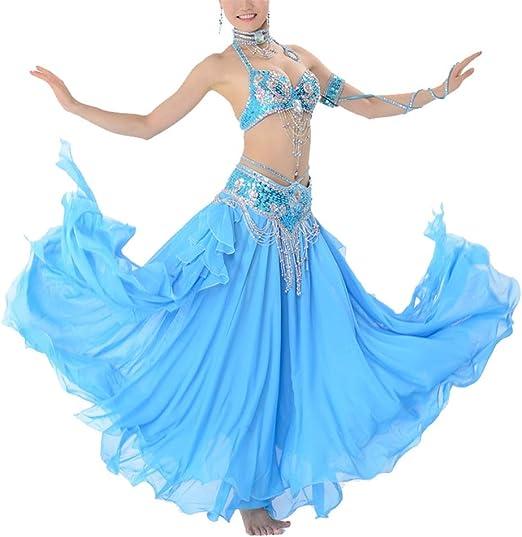 Disfraz de danza del vientre Conjunto de sujetador de abalorios ...