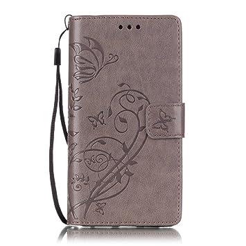 KATUMO Funda y Protector Smartphone Huawei P8 2015, Flip Case Cover para Huawei P8 Lite Funda Cartera Carcasas Trasera Cubierta con Cierre ...