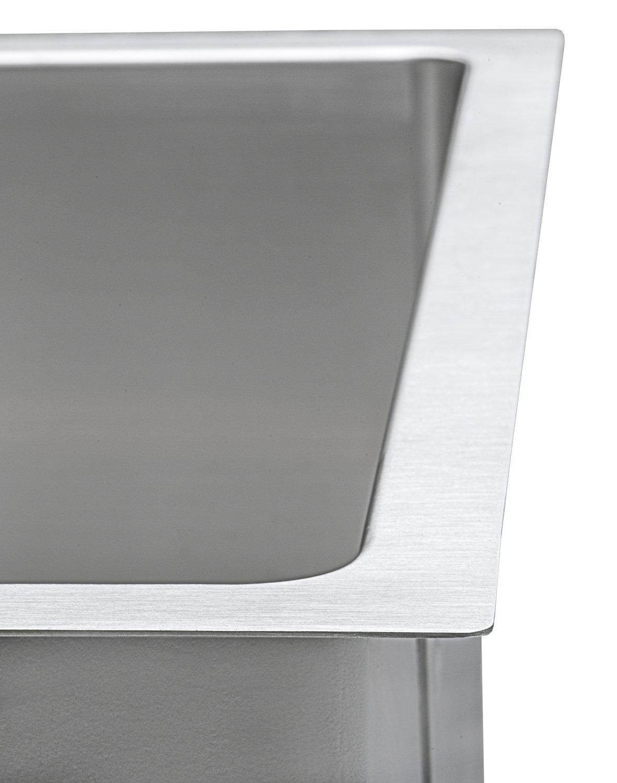 Ruvati 14-inch Undermount Wet Bar Prep Sink Tight Radius 16 Gauge Stainless Steel Single Bowl - RVH7114 by Ruvati (Image #6)