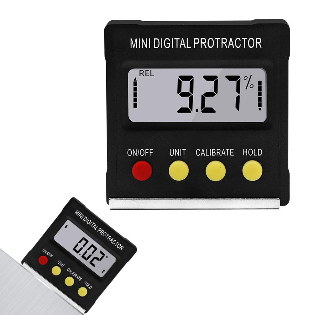 Digital Angle Finder Gauge Lightweight with Magnetic LCD Digital Screen Easy to Read Compact Durable Angle Finder Gauge by Lin-Tong