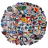 100Pack American Flag Stickers Set Random Sticker Decals for Water Bottle Laptop Cellphone Bicycle Motorcycle Car Bumper Luggage Travel Case. Etc (American Flag)