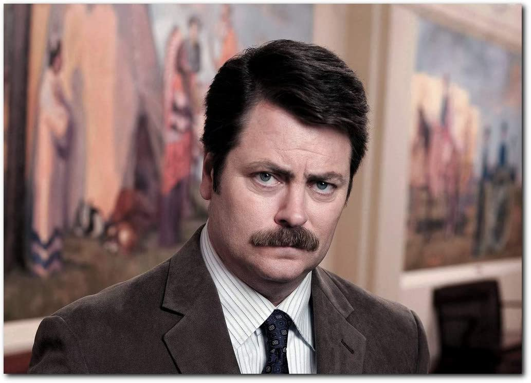 Wall decor Ron Swanson Poster 13x19 Inches   Ready to Frame for Office, Parks and Recreation
