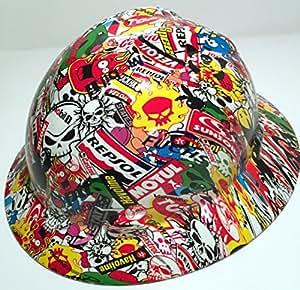 Armor Custom Hard Hats Sticker Bomb Full Brim Hard Hat