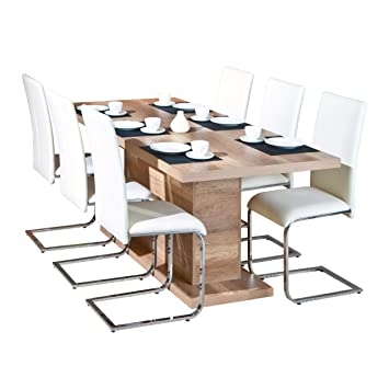 Table Pied Central Avec Rallonge