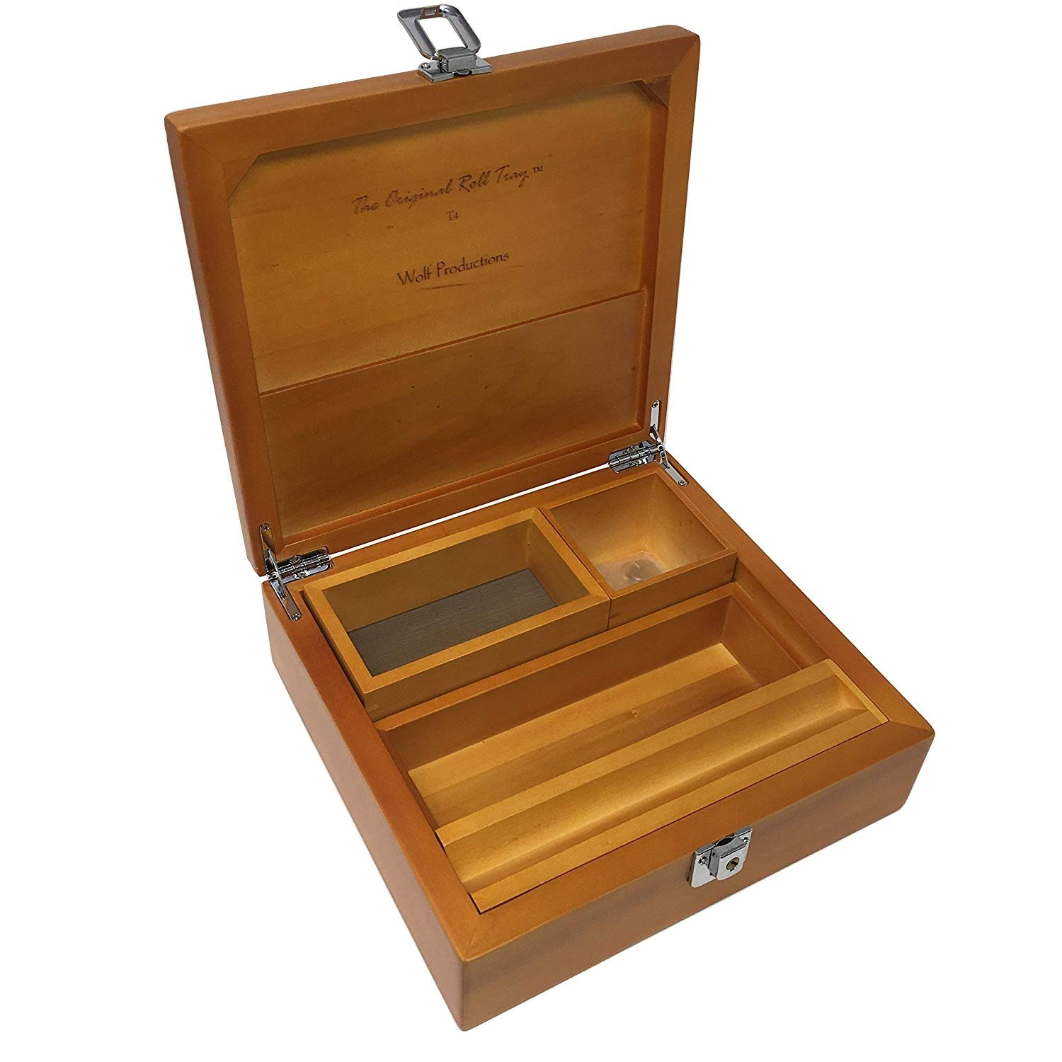 T4 Deluxe Holzbox mit Schloss Wolf Productions Deluxe Jointbox