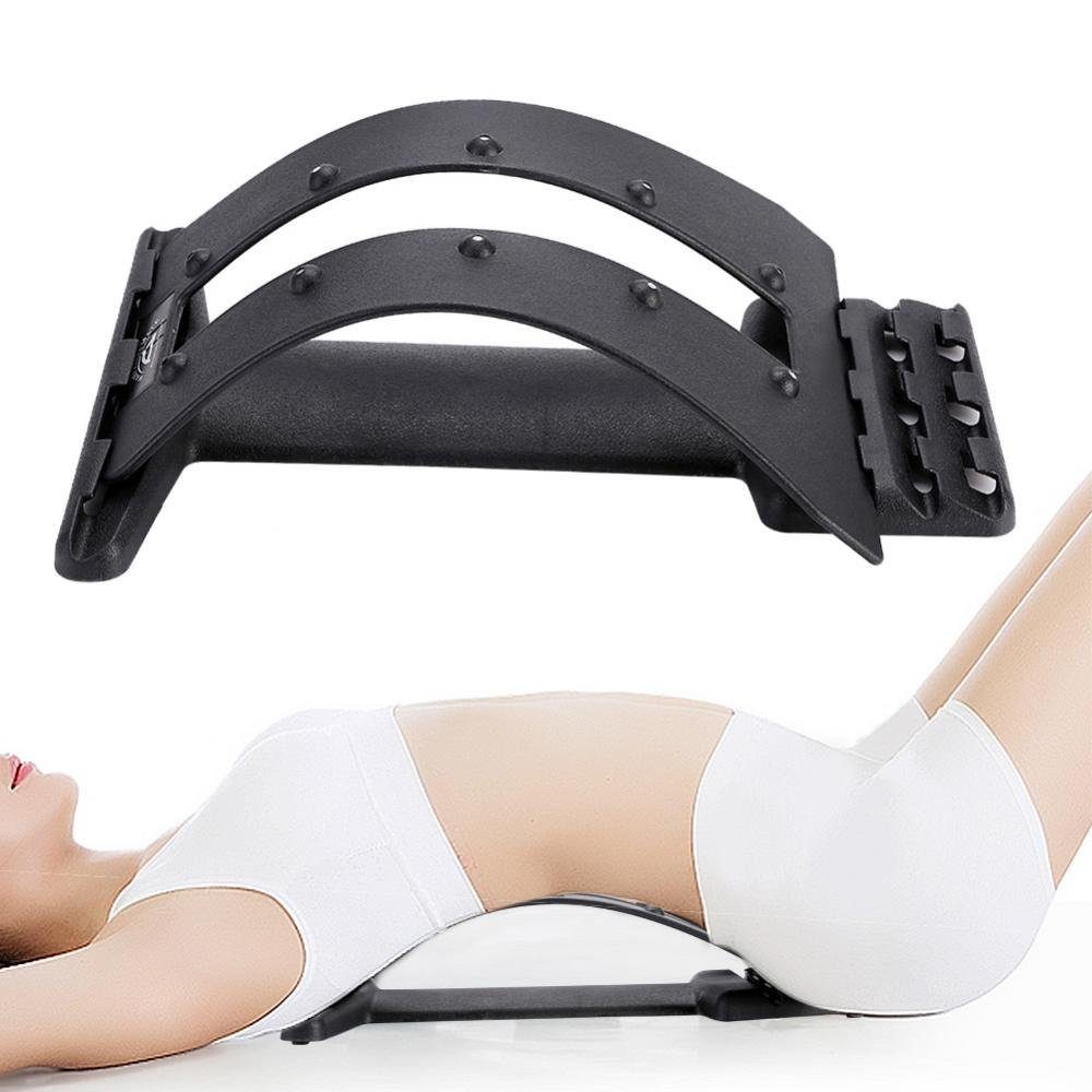 ZJchao Magnet Spine Massager, Multi-level Upper and Lower Back Supporter Lumbar Stretcher Back Spine Massage Waist Pain Relief Relax