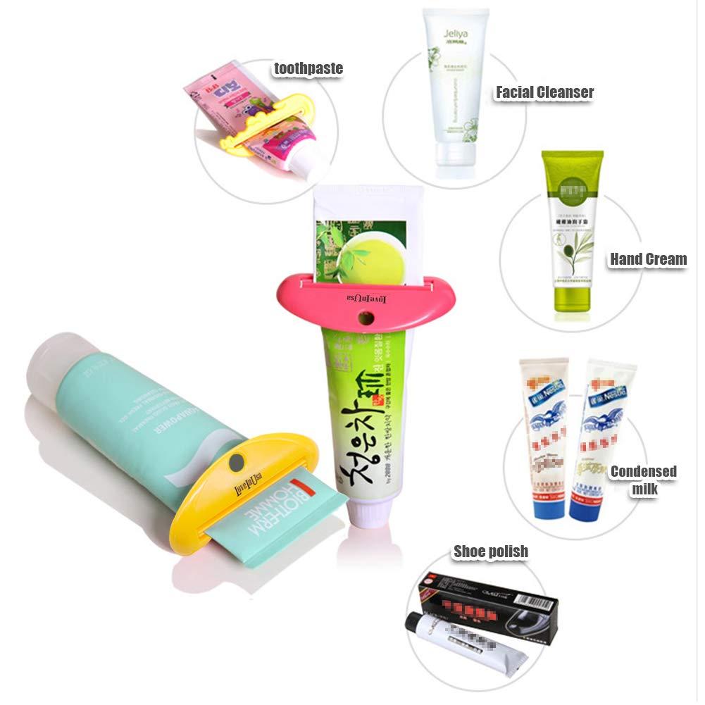Kunststoff Zahnpasta Tubenpressen Kreative Creme Zahnpastaspender Tube HAKACC 8 St/ück Zahnpastaspender Zahnpasta Squeezer