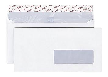 Elco 60289 Boite De 500 Enveloppes Avec Fenêtre Format Dl Blanc