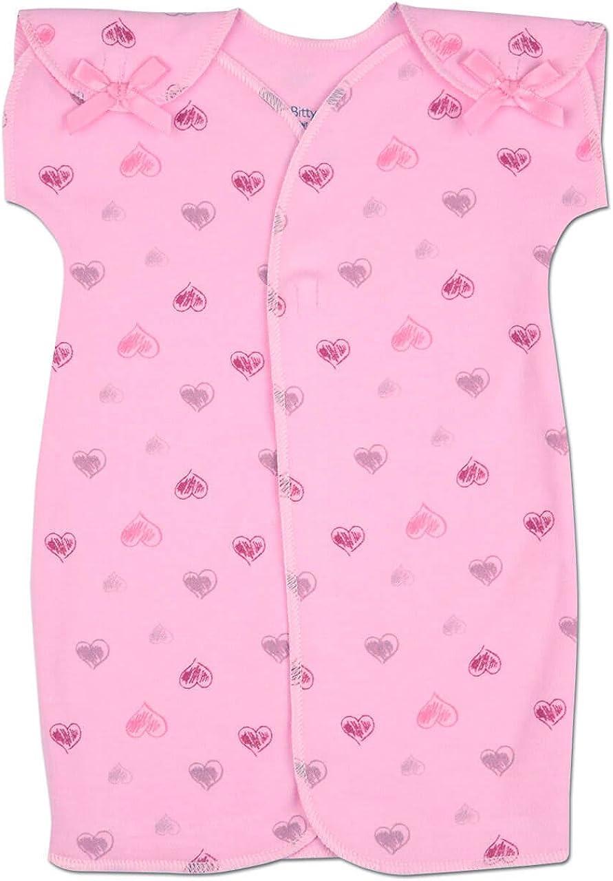 NICU Friendly Itty Bitty Baby Boys /& Girls NICU Gown