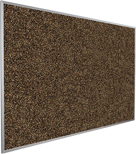 Best-Rite Rubber-Tak Tackboards, Alum Trim, 4 x 8 Feet, Tan ()
