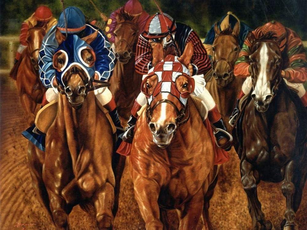 gusbyy Rompecabezas de madera para adultos de 1000 piezas puzzle Las carreras de caballos Educar a los niños Juegos de juguetes para niños y niñas