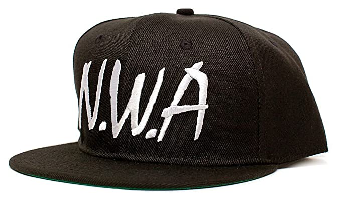 Image Unavailable. Image not available for. Color  NWA Embroidered Unisex-Adult  Hat One-Size Flat Bill ... 05dea9a4318a