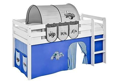 Vorhang Für Etagenbett : Vorhang trecker blau für hochbett spielbett und etagenbett