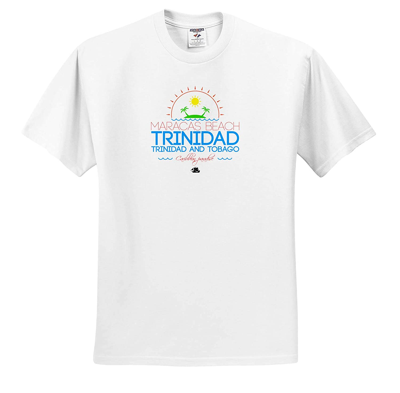 3dRose Alexis Design T-Shirts Maracas Beach Caribbean Paradise Trinidad and Tobago Caribbean Beaches Trinidad