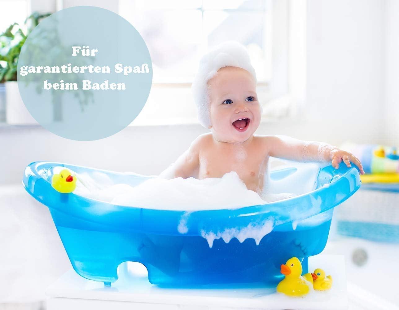 Baignoire s/ûre pour b/éb/é 0-12 mois Cerf - blanc Tega Baby Baignoire ergonomique pour b/éb/é 86 cm avec thermom/ètre int/égr/é Bouchon de drainage pour /évacuer leau