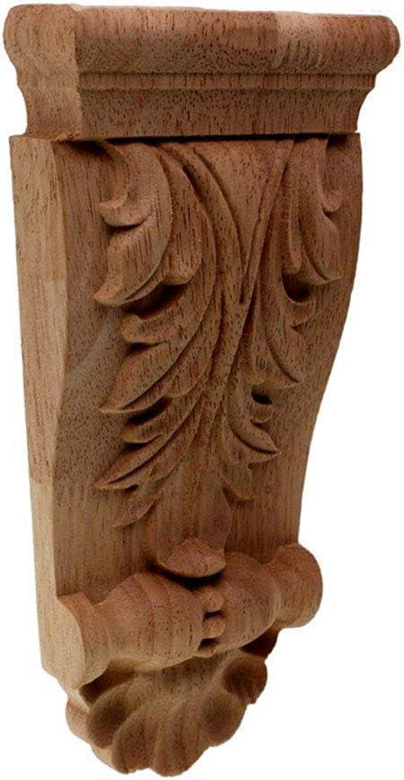 Timesens Vintage Wood Carved Corner Onlay Applique Unpainted Furniture Cabinet Decorative Figurines Wooden Miniature DIY A