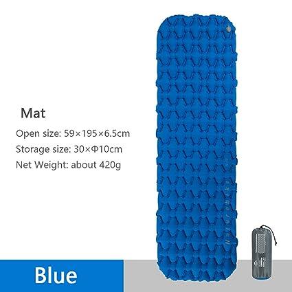 iBasingo Naturehike Aufblasbare Matte Camping Bettw/äsche Schlafmatte Im Freien Wandern Single Zelt Luftmatratze Ultraleicht Feuchtigkeitsfest Kissen Luftsack