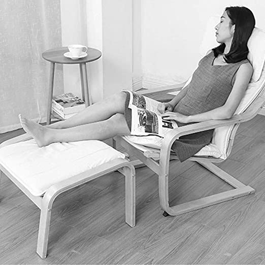 Amazon.com: Silla reclinable de madera maciza plegable para ...