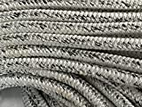 5/8'' X 150' 12 Carrier, 24-strand Arborist Bull Rope, White/Black