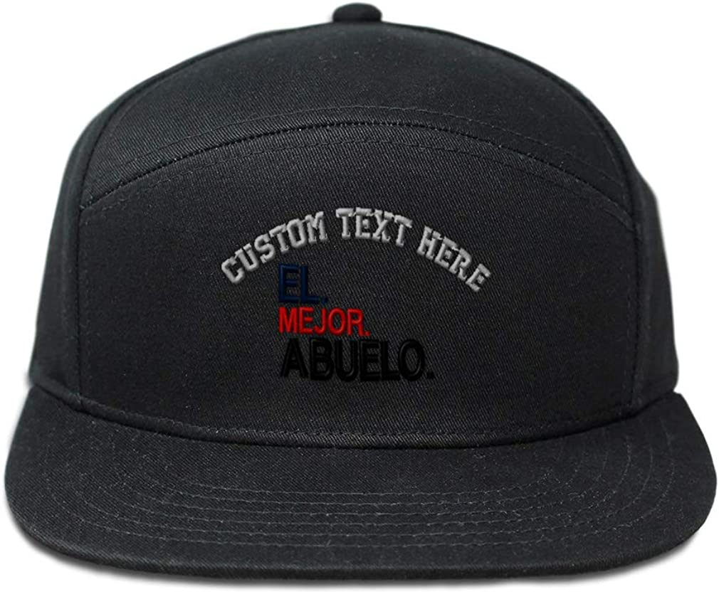 Abuelo Mejor Red Embroidery Cotton Custom Snapback Hats for Men /& Women El