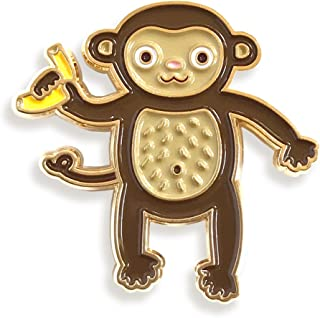 product image for Night Owl Paper Goods Monkey Enamel Pin