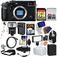 Fujifilm X-Pro2 Wi-Fi Digital Camera Body with 64GB Card + Backpack + Flash + LED Light + Microphone + Battery & Charger + Tripod Kit
