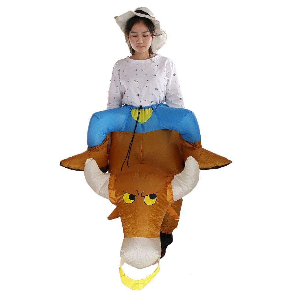 Adulto Mens hinchable Bull Rider disfraz infantil de vaquero ...