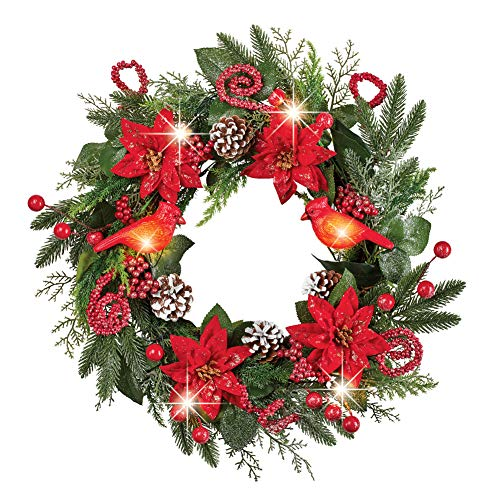 Outdoor Lighted Poinsettias in US - 9