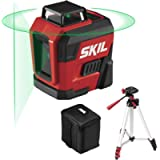 SKIL 100ft. 360° Green Self-Leveling Cross Line Laser Level with Horizontal and Vertical Lines, Rechargeable Lithium…