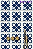 """Udaipur Tile Stickers for Kitchen and Bathroom Backsplash, Removable Stair Riser Stickers, Peel & Stick Home Decor (Pack of 44) (4.25"""" x 4.25"""" (Pack of 44))"""