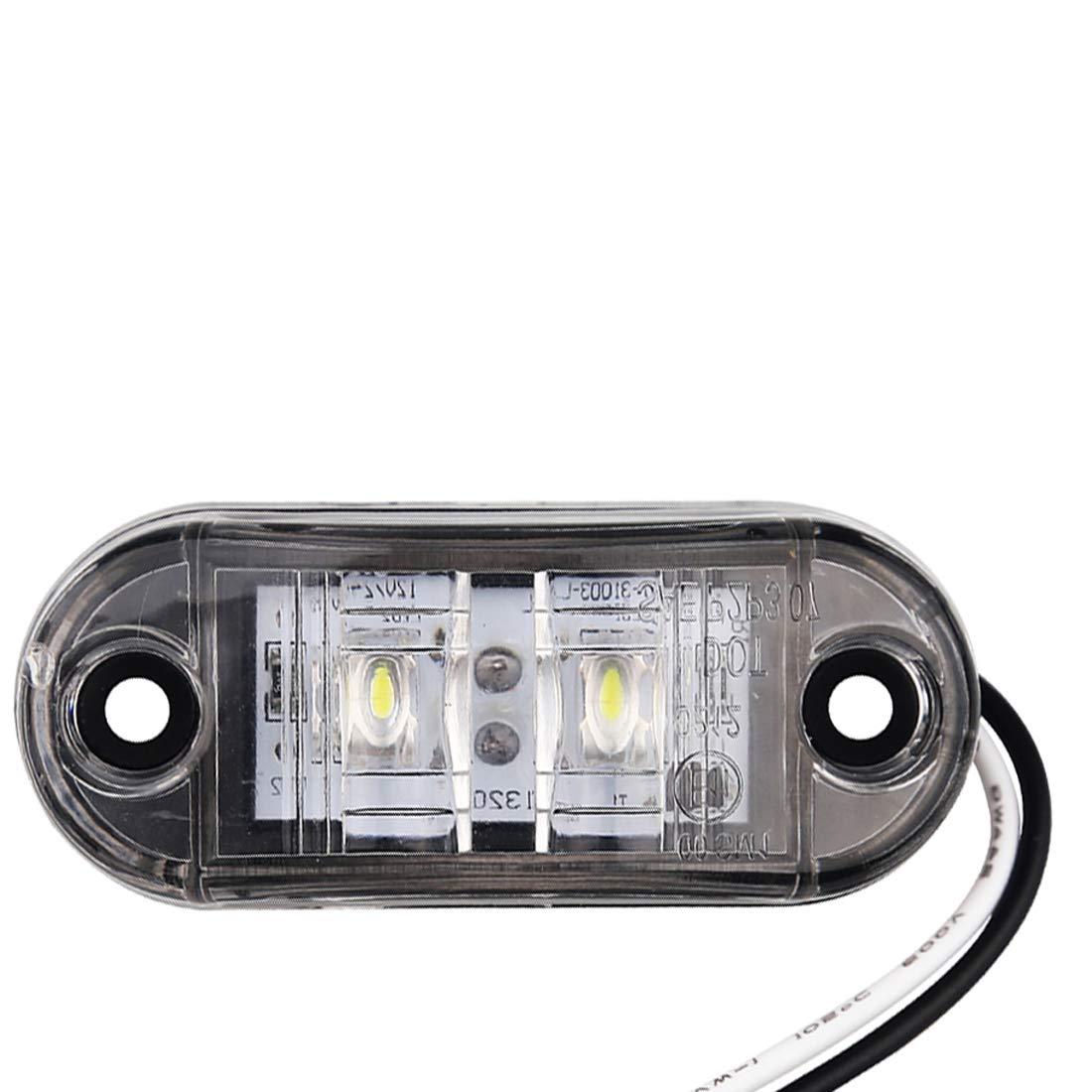 Amarillo VIGORFLYRUN PARTS LTD 8X LED luz de Marcador Lateral Indicador de Posici/ón L/ámparas para Cami/ón Remolque Caravana RV Bus Luz de G/álibo