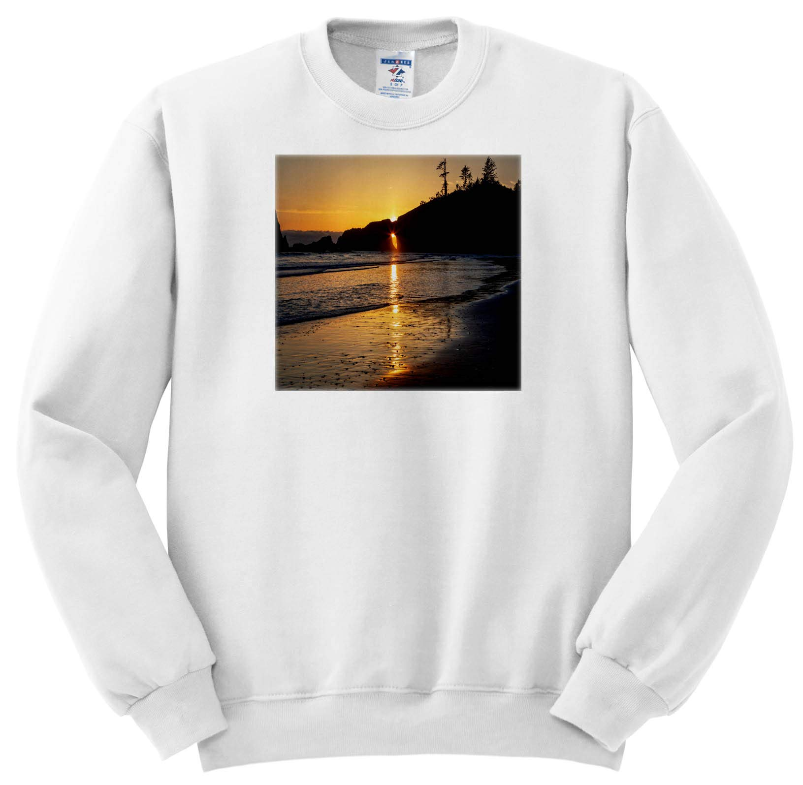Mike Swindle Photography Landscapes Sun Star Through Arch In Sea Stack S Shirts