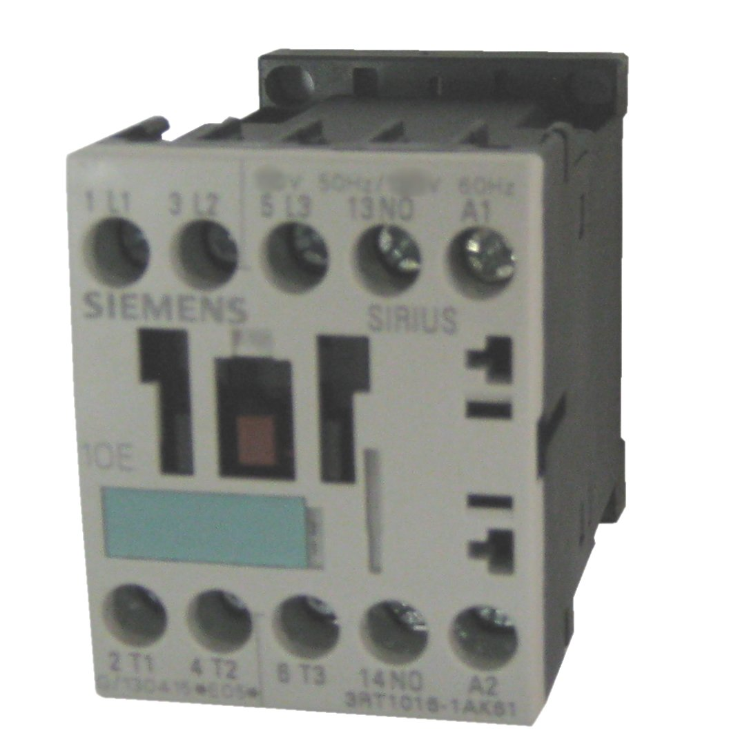 Siemens 3RT10 17-1AK62 Motor Contactor, 3 Poles, Screw Terminals, S00 Frame Size, 1 NC Auxiliary Contact, 120V at 60Hz and 110V at 50Hz AC Coil Voltage Voltage