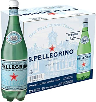 12-Pack San Pellegrino Sparkling Natural Mineral Water 33.8 Oz