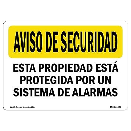 Amazon.com: OSHA Security Notice Sign - Facility Protected ...