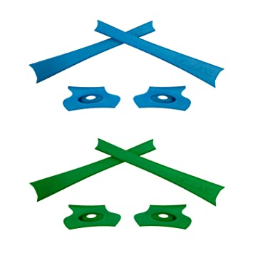 HKUCO Blue/Green Replacement Rubber Kit For piAR7MFvuJ Flak Jacket/Flak Jacket XLJ Sunglass Earsocks kHpwsNsP