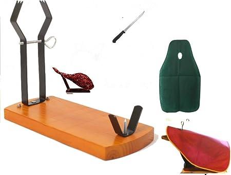 Compra TRUEVINE Gondola - Tabla jamonera, incluye cuchillo en caja de regalo en Amazon.es
