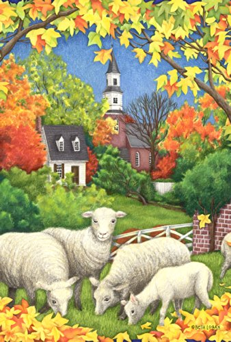 Colonial Garden Arbor (Toland Home Garden Autumn Flock 28 x 40-Inch Decorative USA-Produced House Flag)